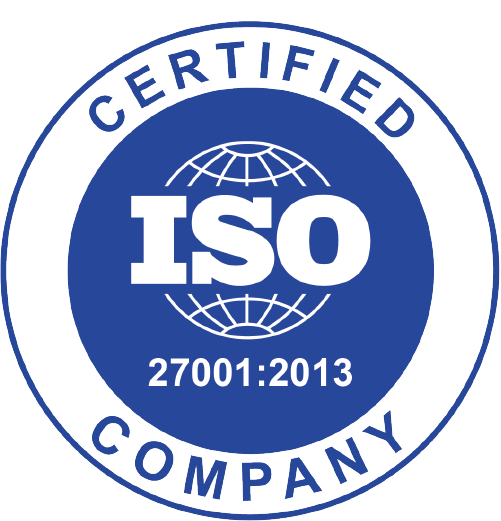 Certified ISO 27001:2013 Company