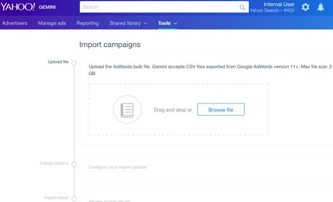Yahoo Product Bulk Upload
