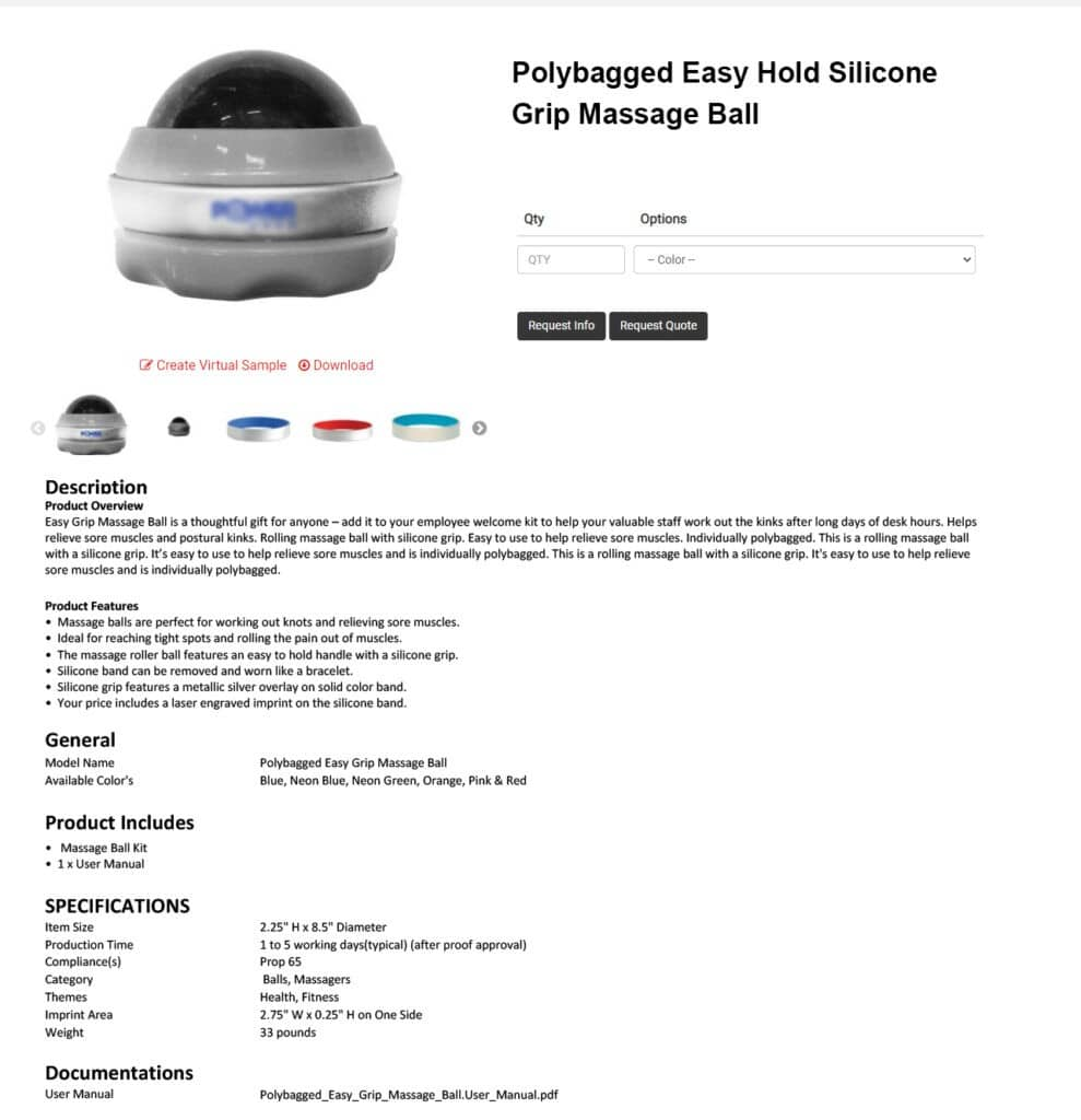 eCommerce Product Page Information's